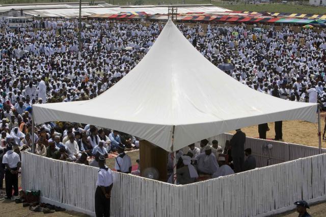 Pamje e një Mbledhjeje Vjetore të Xhematit Musliman Ahmedia të Ghanës gjatë vitit 2008.