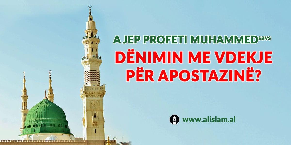 apostazia ne islam denohet me vdekje