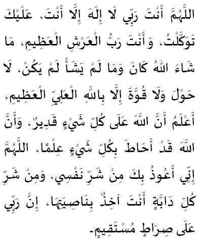 lutje per te pasur mbrojtjen e Allahut