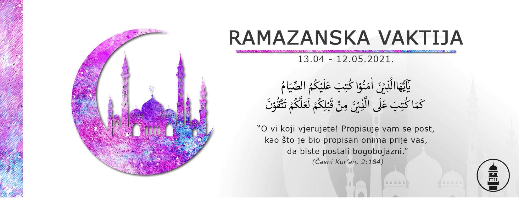 Ramazanska Vaktija Zagreb 2021.