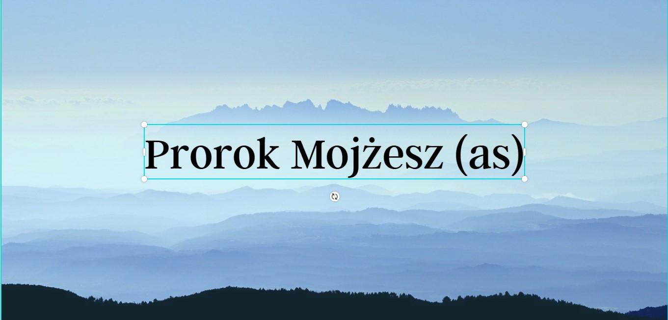 Prorok Mojżesz