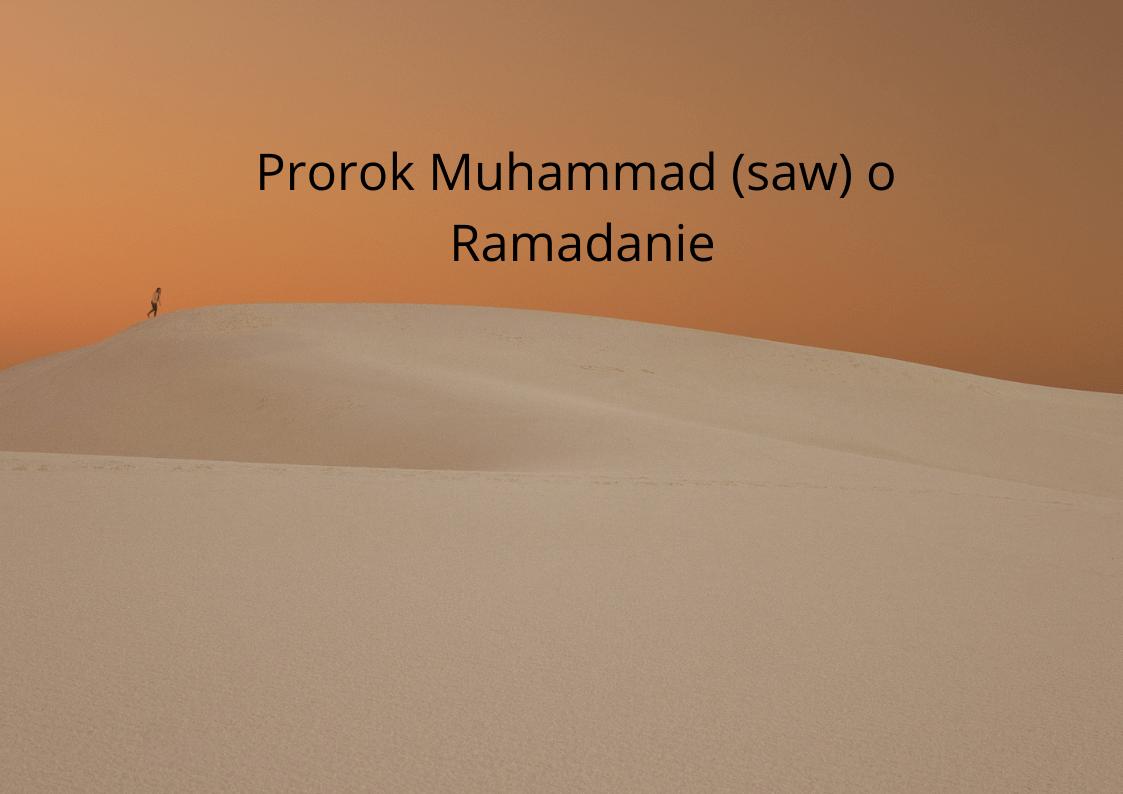 Prorok Muhammad (saw) o Ramadanie