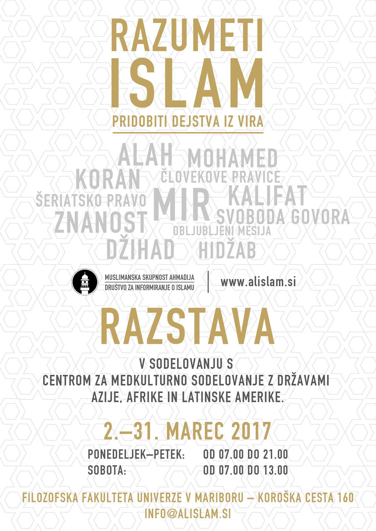 razstava razumeti islam